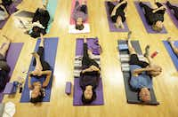 Yoga class at the Jewish Community Center in Dallas, TX, on Jan. 11, 2015.( Jason Janik  -  Special Contributor )
