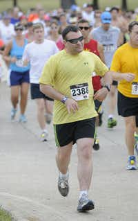 Matthew Stoebner begins the Hottest Half at Norbuck Park on Sunday, August 12, 2012(Rex C. Curry)