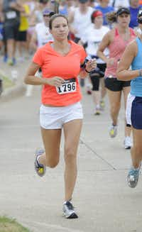 Sarah McConnell begins the Hottest Half at Norbuck Park on Sunday, August 12, 2012(Rex C. Curry)
