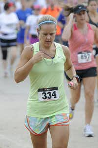 Haley Duck begins the Hottest Half at Norbuck Park on Sunday, August 12, 2012(Rex C. Curry)