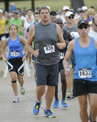 Chance Baker begins the Hottest Half at Norbuck Park on Sunday, August 12, 2012(Rex C. Curry)