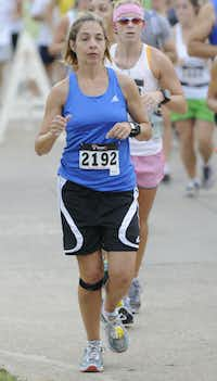 Brandy Mann begins the Hottest Half at Norbuck Park on Sunday, August 12, 2012(Rex C. Curry)