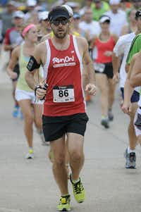 Matthew Kingore begins the Hottest Half at Norbuck Park on Sunday, August 12, 2012(Rex C. Curry)