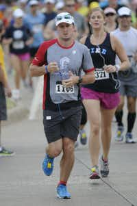 Ryan Harms begins the Hottest Half at Norbuck Park on Sunday, August 12, 2012(Rex C. Curry)