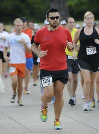 Ignacio Vasquez begins the Hottest Half at Norbuck Park on Sunday, August 12, 2012(Rex C. Curry)