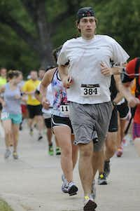 Joshua Zorsky begins the Hottest Half at Norbuck Park on Sunday, August 12, 2012(Rex C. Curry)