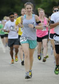 Rita Metzinger begins the Hottest Half at Norbuck Park on Sunday, August 12, 2012(Rex C. Curry)