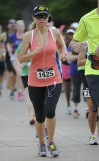 Hellen Byrd begins the Hottest Half at Norbuck Park on Sunday, August 12, 2012(Rex C. Curry)