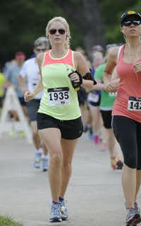 Tara White begins the Hottest Half at Norbuck Park on Sunday, August 12, 2012(Rex C. Curry)