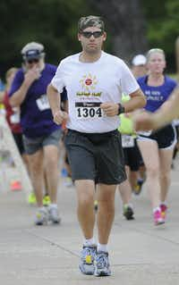 Sam Weatherly begins the Hottest Half at Norbuck Park on Sunday, August 12, 2012(Rex C. Curry)
