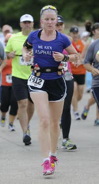 Ilse Bekker begins the Hottest Half at Norbuck Park on Sunday, August 12, 2012(Rex C. Curry)