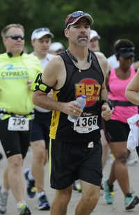 James Frazer begins the Hottest Half at Norbuck Park on Sunday, August 12, 2012(Rex C. Curry)