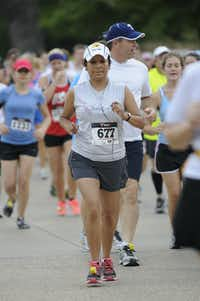 Diana Pritchard begins the Hottest Half at Norbuck Park on Sunday, August 12, 2012(Rex C. Curry)