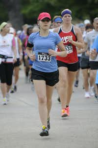 Abbie Miller begins the Hottest Half at Norbuck Park on Sunday, August 12, 2012(Rex C. Curry)