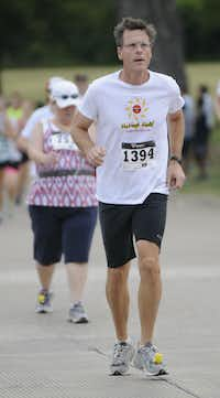 Marvin Fergus begins the Hottest Half at Norbuck Park on Sunday, August 12, 2012(Rex C. Curry)