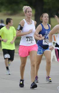Melissa Ray begins the Hottest Half at Norbuck Park on Sunday, August 12, 2012(Rex C. Curry)