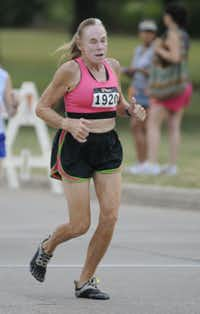 Cheryl McCally begins the Hottest Half at Norbuck Park on Sunday, August 12, 2012(Rex C. Curry)