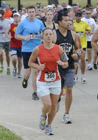 Carry Hansen begins the Hottest Half at Norbuck Park on Sunday, August 12, 2012(Rex C. Curry)