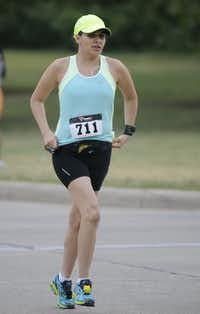 Malissia Zapata begins the Hottest Half at Norbuck Park on Sunday, August 12, 2012(Rex C. Curry)