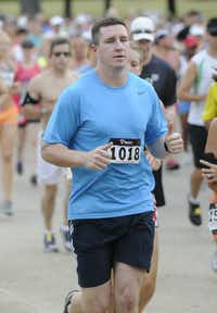 Tim Chalmers begins the Hottest Half at Norbuck Park on Sunday, August 12, 2012(Rex C. Curry)