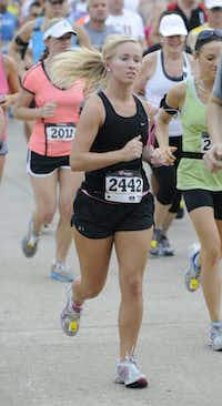 Alyssa Williams begins the Hottest Half at Norbuck Park on Sunday, August 12, 2012(Rex C. Curry)