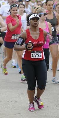 Vicki Page begins the Hottest Half at Norbuck Park on Sunday, August 12, 2012(Rex C. Curry)
