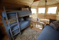 Not every treehouse has sleeping quarters, but this one has a loft that holds a queen-size mattress and three twin beds.Vernon Bryant  -  Staff Photographer