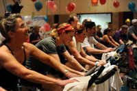 The indoor cycling event attracted 308 riders and raised more than $300,000.