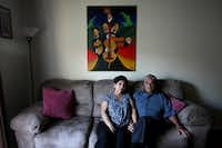Isaura Galicia, 65, and her husband Arturo Galicia, 73, at their home in Dallas.