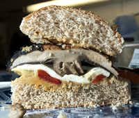 One of the dishes that registered dietician, Robin Plotkin, helped the Green family prepare in their home was a portobello mushroom sandwich.