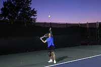 Marjorie Poche, who found out she had Type 1 diabetes at 57 years old, plays tennis at Canyon Creek Country Club in Richardson on Tuesday, October 23, 2012.