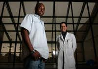 Former patient Justin White, 27, and his doctor Randi Dubiel, Medical Director of Traumatic Brain Injury, at the Baylor Institute for Rehabilitation in Dallas. Justin suffered a traumatic brain injury in 2005 that left him in a coma for three weeks and rehab for six months. He now volunteers at the same rehab facility speaking with patients who have the same injuries that he had.