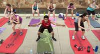 The Camp Gladiator class at Addison Circle msucles through, but Tabata isn't for everyone and can be dangerous if not done properly, experts say.