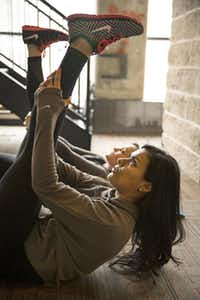 To help restore your workout mojo, personal trainer Nadia Christian suggests surrounding yourself with active people. A group fitness class is a good place to start.(Photos by Smiley N. Pool - Staff Photographer)