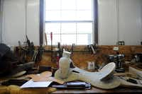 The 'tree' is the unleathered every first processes of making a saddle. The East Texas Pine is the wood used for leather artist Jerry Shaw's saddles. From there, they are then fiber glassed for strength. Shaw does does everything from guitar straps to chairs, but his main focus is horse saddles.