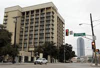 Exterior shot of the now defunct Dallas Plaza Hotel taken Thursday, February 3, 2011, south of downtown Dallas.