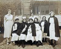 Nurse May Smith (far right) gave Children's Medical Center its start by opening the Dallas Baby Camp in 1913 in tents on the lawn of what would become Parkland Hospital.