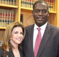 Democratic megadonor Lisa Blue and Dallas County District Attorney Craig Watkins were among Cortez's political supporters in past years.(File 2011)