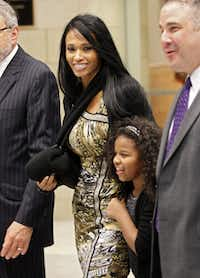 Pilar Sanders left court with her daughter. Pilar and Deion Sanders both said they were happy with the outcome.