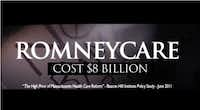 Rick Perry's 2012 YouTube channel goes after opponent Mitt Romney's health care plan, labeling it RomneyCare.