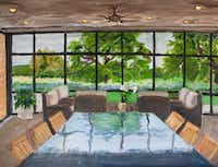 "This painting, ""Crawford Breezeway,"" is a piece former President George W. Bush did of a room at his ranch in Crawford, outside of Waco.George W. Bush"