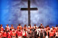 The choir filled the new sanctuary with song on Sunday morning.