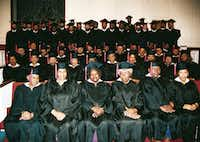 More recent graduates of the Southern Bible Institute. White seminarians trained black preachers when the school began 84 years ago.