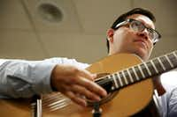 Camp instructor Adolfo Estrada offers lessons during a session he leads at the University of North Texas Mariachi Aguilitas Summer Camp.(Andy Jacobsohn - Staff Photographer)