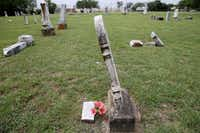 Graves are leaning, fallen or cracked all over Old City Cemetery, the resting place of prominent early settlers.Andy Jacobsohn  -  Staff Photographer
