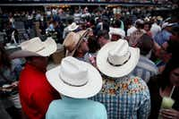 George Strait fans find their seats before Strait plays the last show of his final tour at AT&T Stadium in Arlington, Texas on June 7, 2014. (Andy Jacobsohn/The Dallas Morning News)Andy Jacobsohn - Staff Photographer
