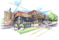 Artist's rendering of restaurant row in the proposed Irving entertainment center area.courtesy