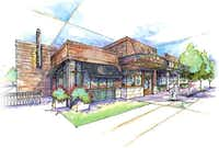 Artist's rendering of restaurant row in the proposed Irving entertainment center area.( courtesy )