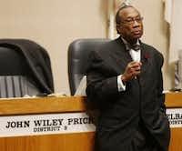 FILE - Dallas County Commissioner John Wiley Price (Michael Ainsworth/The Dallas Morning News)