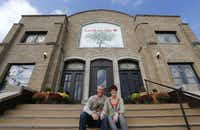 Pastor Mike Connaway, with his wife, Lisa, fell in love with the building he restored for his church.